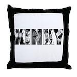 Femdom kinky Throw Pillow