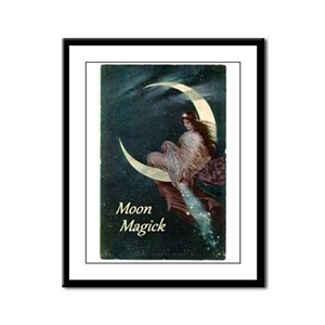 Fairy of the Moon Framed Panel Print