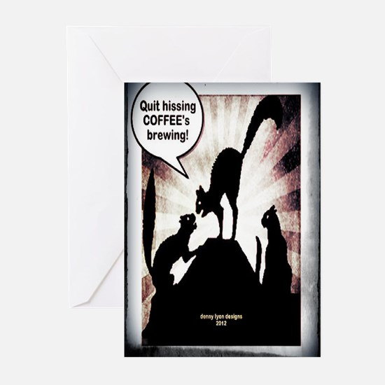 Funny Coffee Cats Greeting Cards (Pk of 10)