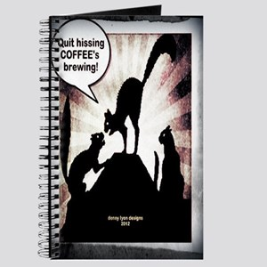 Funny Coffee Cats Journal