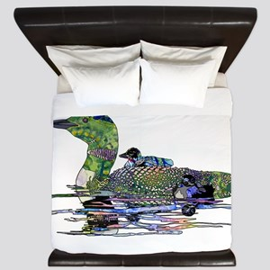Colorful Loon King Duvet