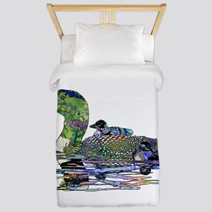 Colorful Loon Twin Duvet