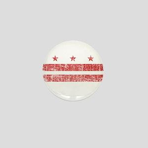 Aged Washington D.C. Flag Mini Button