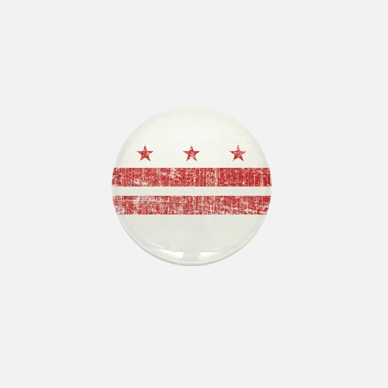 Aged Washington D.C. Flag Mini Button