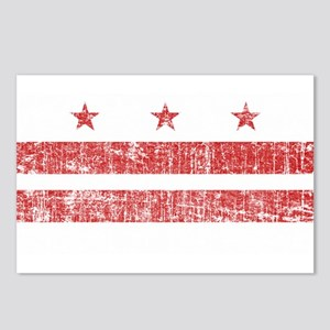 Aged Washington D.C. Flag Postcards (Package of 8)