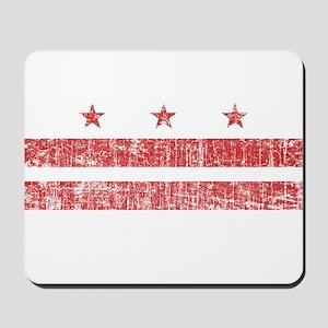 Aged Washington D.C. Flag Mousepad