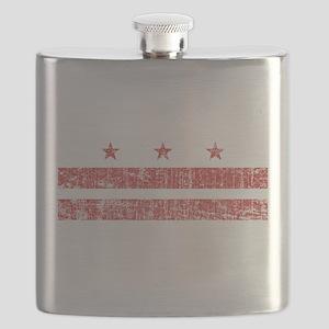 Aged Washington D.C. Flag Flask