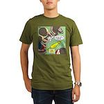 Rubber Chicken First Aid Organic Men's T-Shirt (da