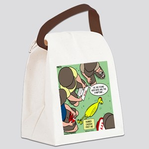 Rubber Chicken First Aid Canvas Lunch Bag