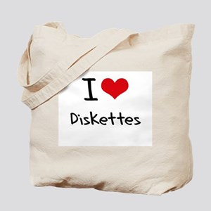 I Love Diskettes Tote Bag
