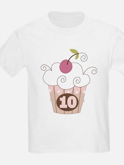 10th Birthday Cupcake T-Shirt