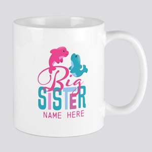 Custom Dolphin Big Sister Mug