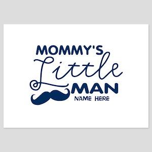 Custom Mommy's Little Man 5x7 Flat Cards