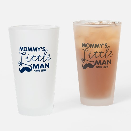 Custom Mommy's Little Man Drinking Glass