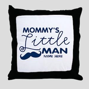 Custom Mommy's Little Man Throw Pillow