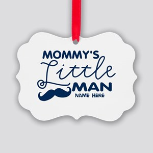 Custom Mommy's Little Man Picture Ornament