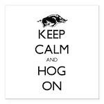 """Hog On Square Car Magnet 3"""" x 3"""""""