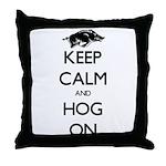 Hog On Throw Pillow