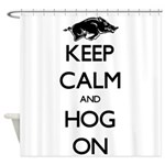 Hog On Shower Curtain