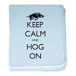 Hog On baby blanket