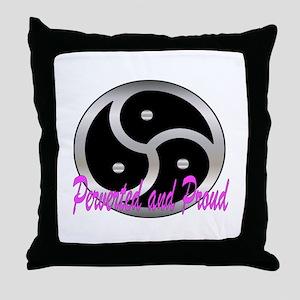 Femdom perverted an... Throw Pillow