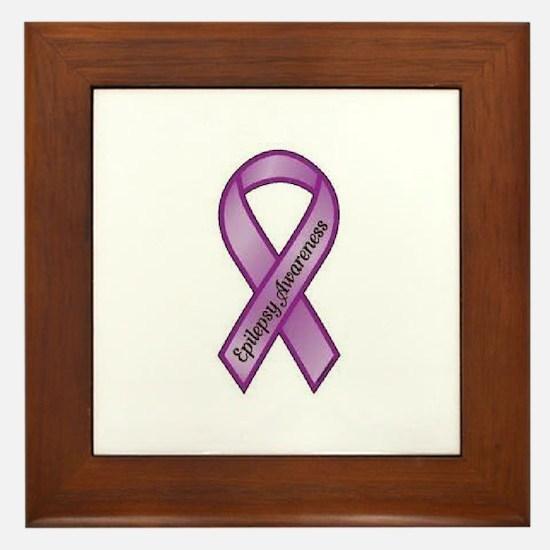epilepsy awareness Framed Tile