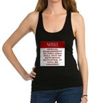 Femdiom NOTICE repo... Racerback Tank Top