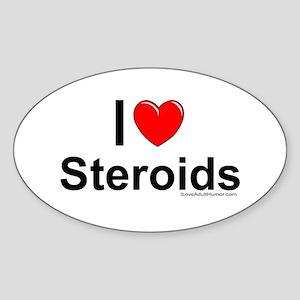 Steroids Sticker (Oval)