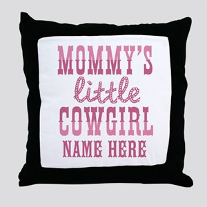 Personalized Mommy's Little Cowgirl Throw Pillow