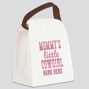 Personalized Mommy's Little Cowgirl Canvas Lunch B