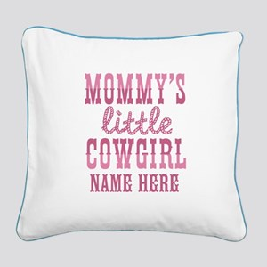 Personalized Mommy's Little Cowgirl Square Canvas