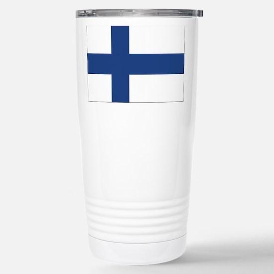 Finland Flag Stainless Steel Travel Mug