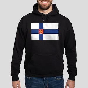 Finland State Flag Hoodie (dark)