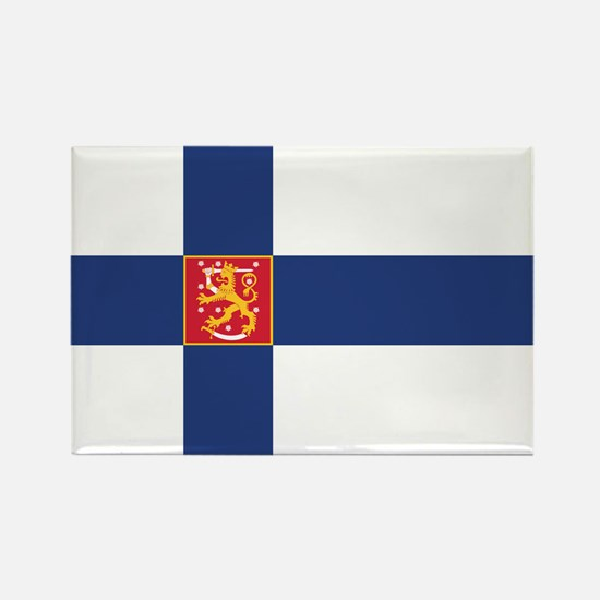 Finland State Flag Rectangle Magnet (10 pack)