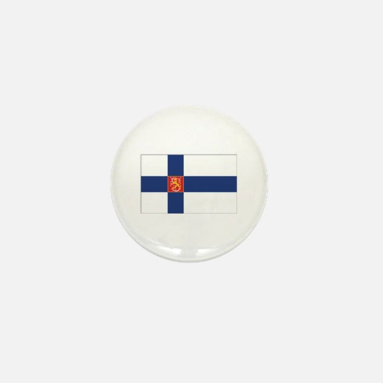 Finland State Flag Mini Button
