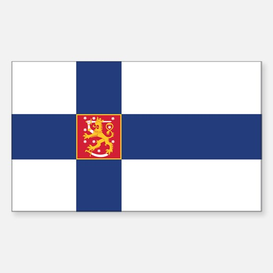 Finland State Flag Sticker (Rectangle)