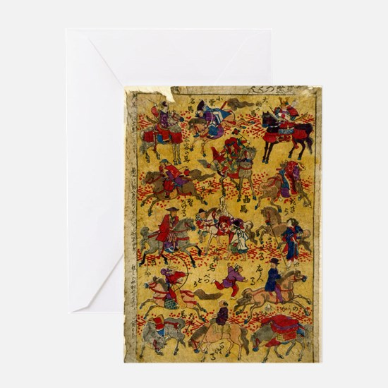 Anonymous - Melange of Horse-Riders - 1878 - Woodc
