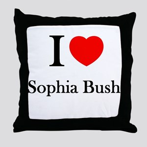 I love Sophia Bush Throw Pillow