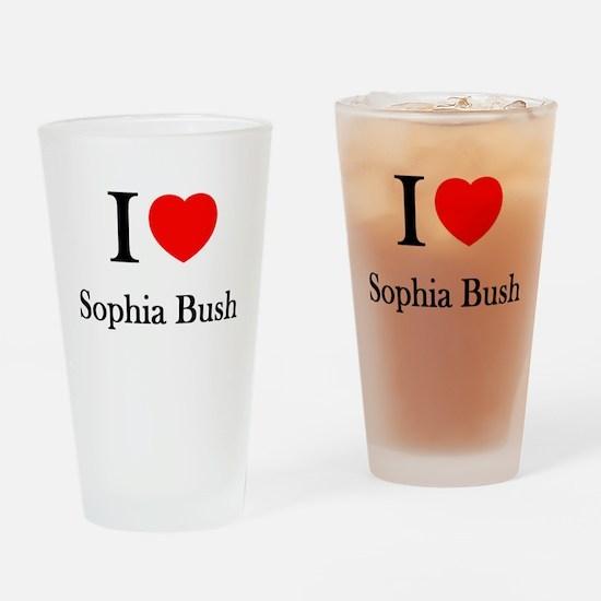 I love Sophia Bush Drinking Glass