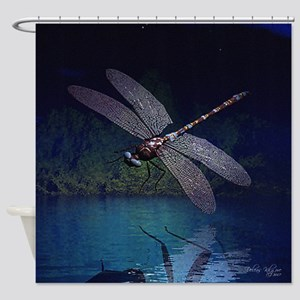 dragonfly10asq Shower Curtain