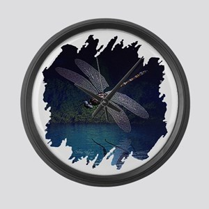 dragonfly10asq Large Wall Clock