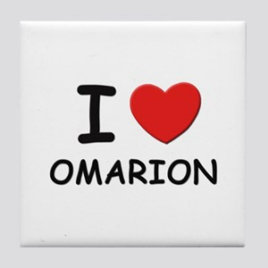 I love Omarion Tile Coaster