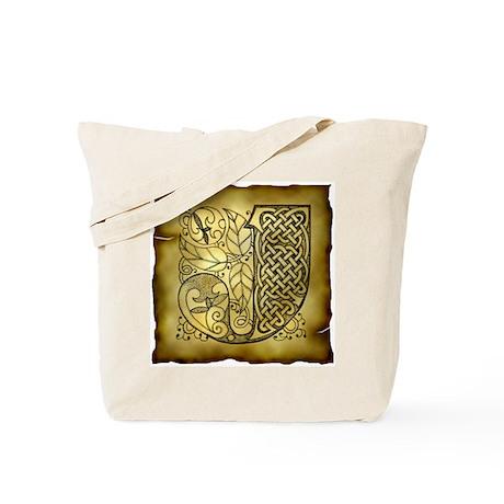 Celtic Letter J Tote Bag