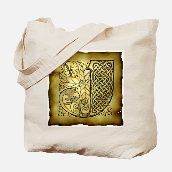 Celtic Letter J Tote Bag