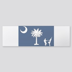 The South Carolina Shag Flag Bumper Sticker