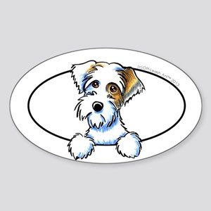 Sealyham Badger Off-Leash Art™ Peeking Sticker