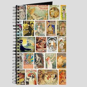 Vintage Art Nouveau Advertisements Journal