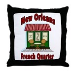 New Orleans French Quarter 2 Throw Pillow