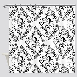 Black & White Damask #21 Shower Curtain