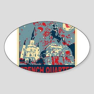 french-quarterbluessq Sticker